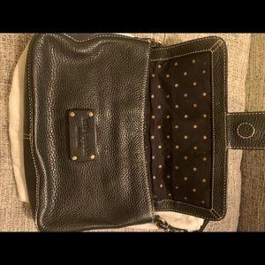 Kate spade leather handbag in burlap sack